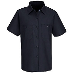 Female Short Sleeve Industrial Work Shirt